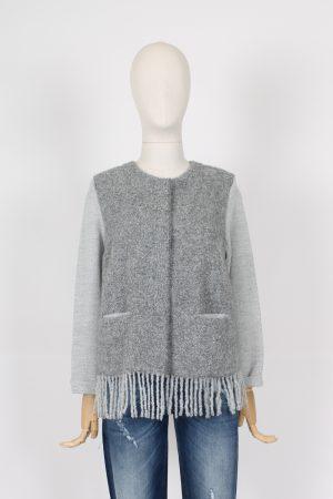 Maglia giacca con peneri