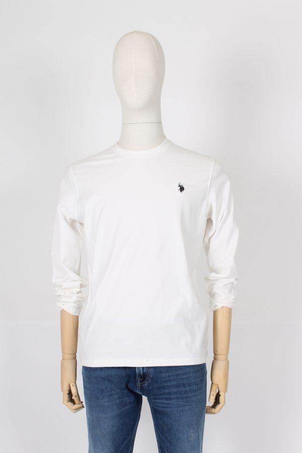 T shirt manica lunga logata cotone invernale
