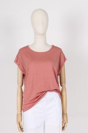 T shirt in tencel e Lyocel manica calata Vero Moda