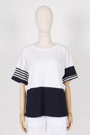 T shirt marinara con manica over Maria Bellentani