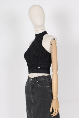 Canotta lurex scollo all'americana Guess Jeans