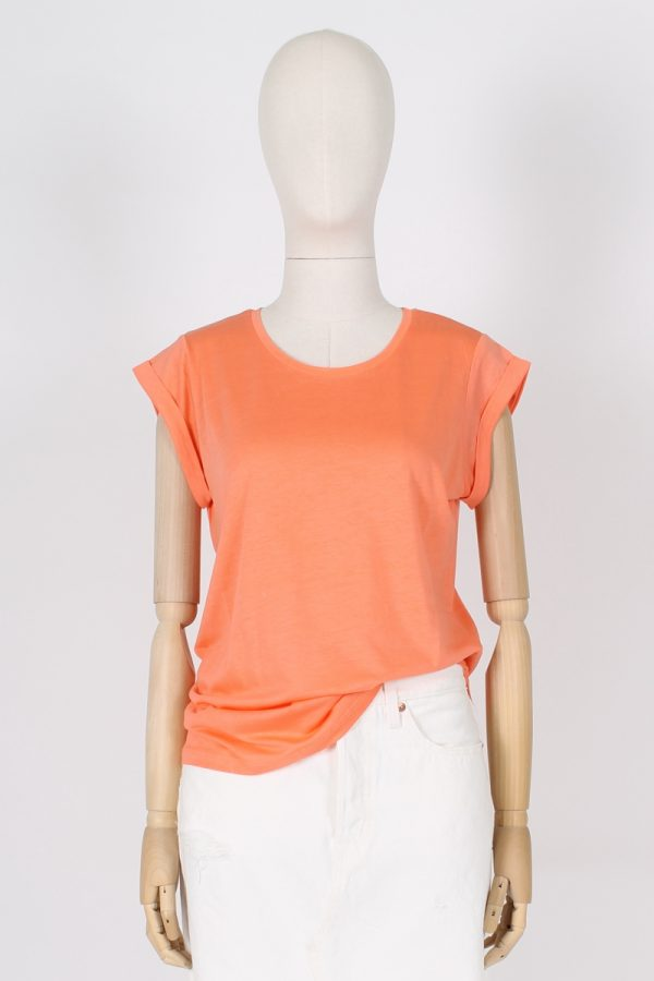 T shirt in Lyocell con manica rovesciata Absolut cashmere