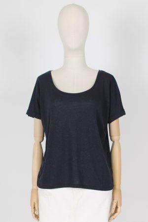T shirt scollo madonna in lyocell e lino Absolut