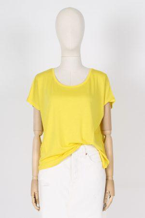 T shirt scollo madonna in lyocell e cotone Absolut Cashmere