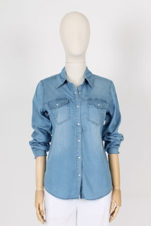 Camicia denim in tencel elasticizzato VILA