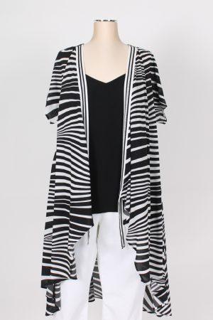 Kimono fantasia bianco nero Mat