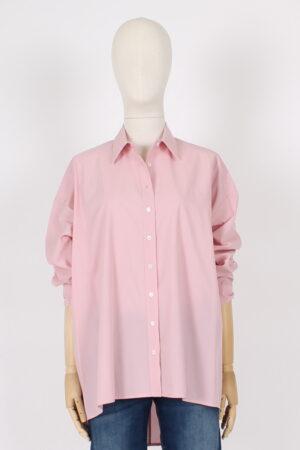 Maxi camicia rosa