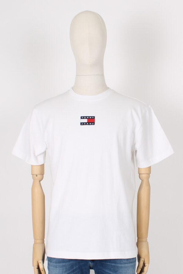 T shirt over con logo ricamato