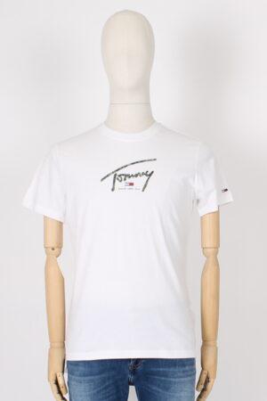 T shirt con logo mimetico.