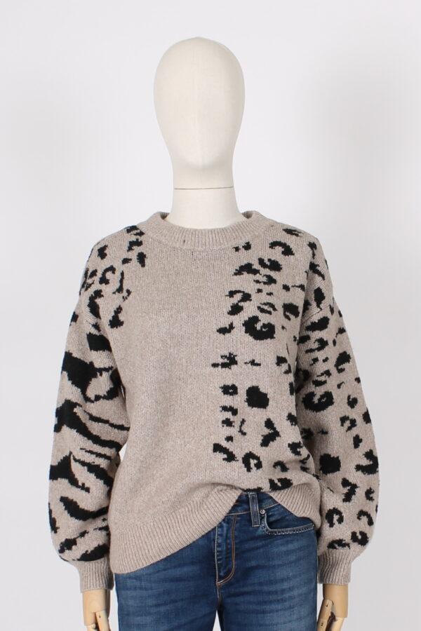 Maxi maglia leopardata